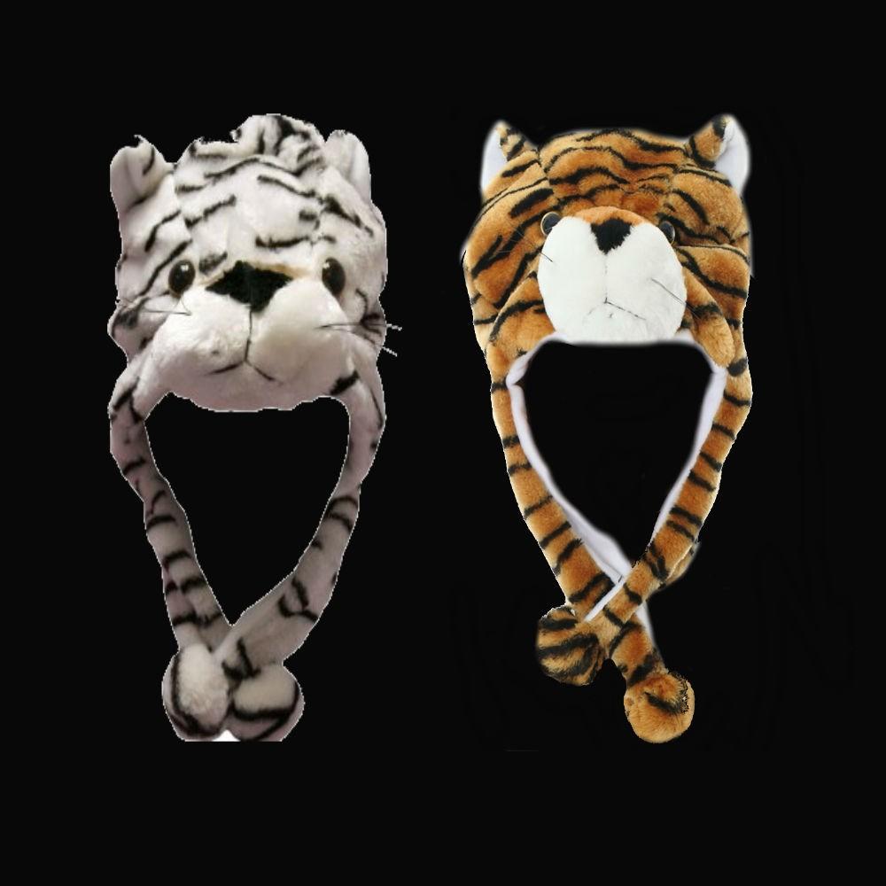 SHORT ANIMAL HAT - TIGERS (1 PIECE)