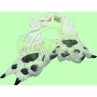 PLUS ANIMAL SCARF WITH LARGE PAWS - PANDA (1 PIECE)
