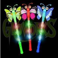 "15"" Flashing Butterfly Buggy Eye Wands - Asst. Colors (1 PIECE)"