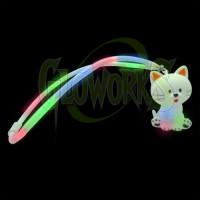 White Kitty Flashing Multi-Color Lanyard (1 PIECE)