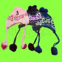 Knit Ear Cover Infant Winter Hat - Asst. Colors (1 PIECE)