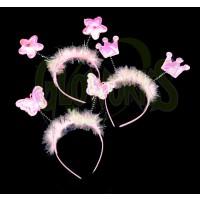 Pink Princess Headband Boppers - Asst. Shapes (1 DOZEN)