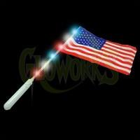 Flashing USA Flag Wand (1 PIECE)