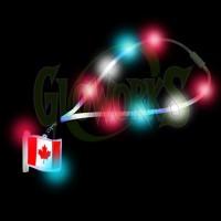 Canadian Flag Flashing Charm with Flashing Lanyard (1 PIECE)