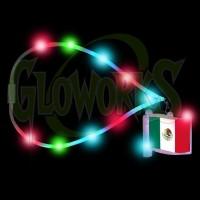 Mexican Flag Flashing Charm with Flashing Lanyard (1 PIECE)