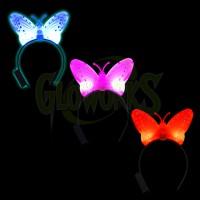Butterfly Flashing Headband - Asst. Colors (1 PIECE)