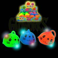 Kitty Flashing Puffer Balls - Asst. Colors (1 PIECE)