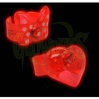 Flashing Cuff Bracelet - Bow Charm (1 PIECE)