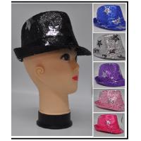 FLASHING SEQUIN FEDORA HAT WITH STARS (1 PIECE)