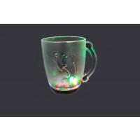 LED GLASS- 10 OZ BEER MUG WITH DOLPHIN (1 DOZEN)