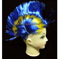 MOHAWK FLASHING WIG - YELLOW/BLUE (1 PIECE)