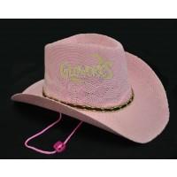 WOVEN COWBOY HAT- PINK NON-FLASHING (1 PIECE)