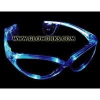 LED SUNGLASSES - BLUE (1 PIECE)