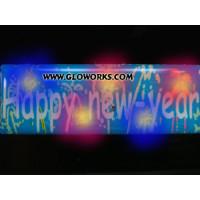 HAPPY NEW YEAR FLASHING MAGNETIC LED PIN (1 DOZEN)