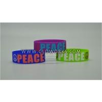 SILICONE BRACELETS - PEACE (1 DOZEN)