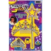 GLITTER GIRL PRINCESS SET (1 SET)
