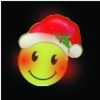 SMILEY FACE MAGNETIC LED PIN (1 DOZEN)