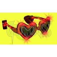 RED HEART FLASHING SUNGLASSES (1 PIECE)