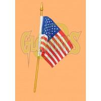 "4"" X 5"" USA FLAG ON WOODEN STICK (1 PIECE)"