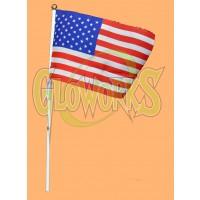 "5"" X 8 "" USA FLAG ON PLASTIC STICK (1 PIECE)"