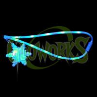 BLUE SNOWFLAKE FLASHING LANYARD (1 PIECE)