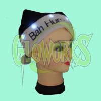 BAH HUMBUG FLASHING SOFT SANTA HAT (1 PIECE)