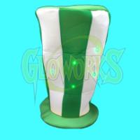 LARGE FLASHING STOVETOP GREEN WHITE HAT (1 PIECE)