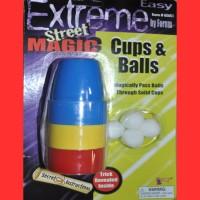 MAGIC CUPS & BALLS (1 PIECE)
