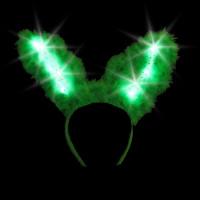 LED BUNNY EARS - GREEN (1 PIECE)