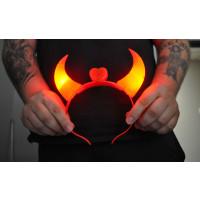 LED DEVIL HORNS - RED (1 PIECE)