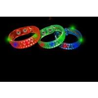 FLASHING DIAMOND CUT BRACELET ASSORTED COLOR RED/BLUE/GREEN (1 PIECE)