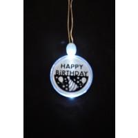 ACRYLIC HAPPY BIRTHDAY CHARM NECKLACE (1 PIECE)
