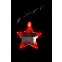 LED ACRYLIC STAR CHARM ON NON FLASHING LANYARD (1 PIECE)