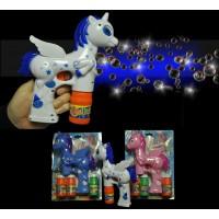 LED FLASHING UNICORN BUBBLE BLOWER ASSORTED WHITE/PINK/BLUE (1 PIECE)