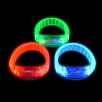 LED HARD WATCH STYLE BRACELETS - ASST. COLORS (1 PIECE)