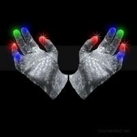 LED SEQUIN GLOVE - MULTI COLOR (1 PAIR)