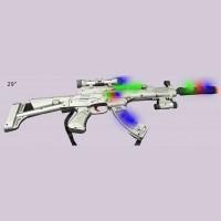 FLASHING BOXED AK-47 STYLE GUN (1 PIECE)