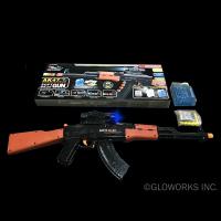 AK-47 STYLE PLAY GUN SHOOTS WATER PELLETS AND FOAM DARTS (1 PIECE)