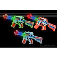 LED FLASHING PIXEL MACHINE GUN (1 PIECE)