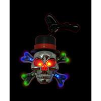 Flashing Large Skull Necklace (1 PIECE)