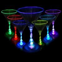 LED GLASS - 7OZ MARTINI (1 PIECE)