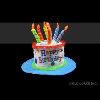 LED HAPPY BIRTHDAY CAKE HAT (1 PIECE)