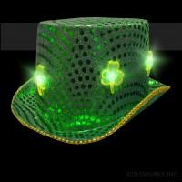 SEQUIN CLOVER LED TOP HAT (1 PIECE)