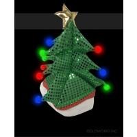 LED FLASHING CHRISTMAS TREE HAT (1 PIECE)
