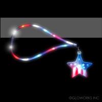 USA STAR FLASHING LANYARD (1 PIECE)