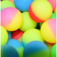 "1"" TWO TONE RUBBER BOUNCY BALLS (100 PIECES/BAG)"