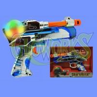 SPINNING BALL DOUBLE BARREL LED GUN (1 PIECE)